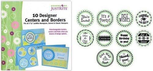 Monogram Designer Centers & Borders Stamps