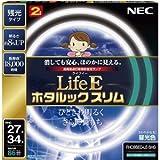 NEC 丸形スリム蛍光灯(FHC) LifeEホタルックスリム 86W 27形+34形パック品 昼光色 FHC86ED-LE-SHG