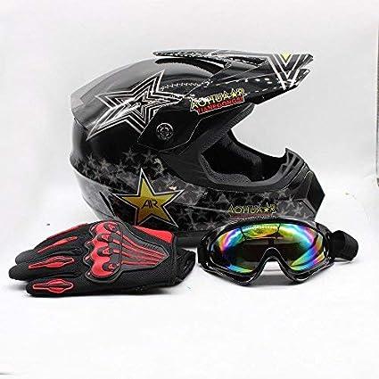 Adult Full Face MX Helmets Motocross Dirt Bike Offroad ATV Size L DOT Approve