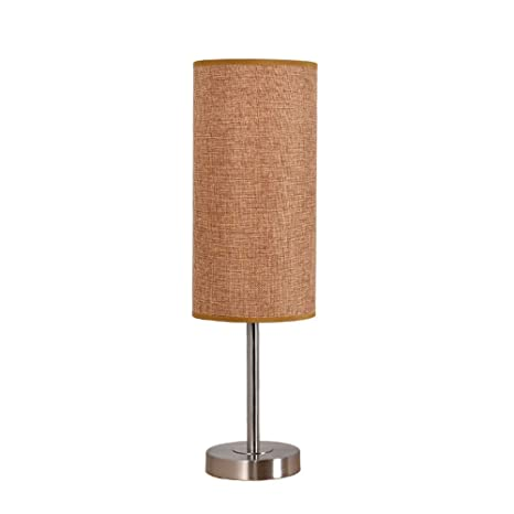 Moderno minimalista hierro forjado tela de lino cilíndrica ...