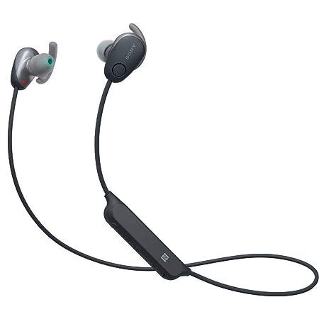 Sony MDR XB80BS Black Premium Waterproof Bluetooth Wireless Extra Bass Sports in Ear Noise Canceling 7 Hr of Playback Headphones/Microphone  Internati