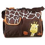Creazy® Multi Function Baby Diaper Nappy Changing Bag Changing Mat Mummy Handbag (Orange)