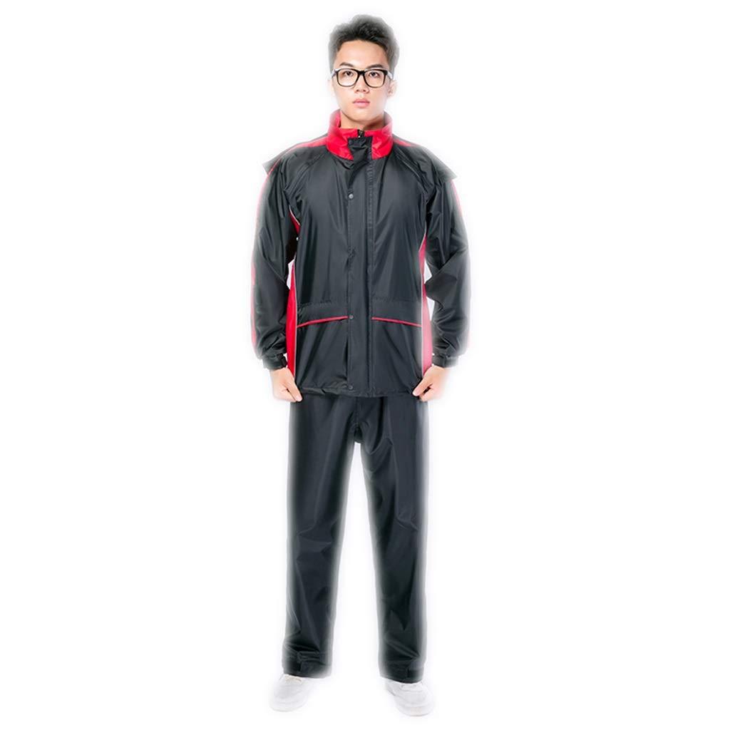 Rouge XXXL Imperméable M L XL   2XL   3XL Hommes et Femmes Pantalon de Pluie Costume Split Adulte (Couleur   Orange, Taille   M)