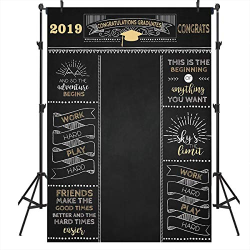 Mocsicka Graduation Backdrop 5x7ft 2019 Graduation Party Backgroud Graduation Prom Photo Backdrop Congratulations Graduates Photography Background -