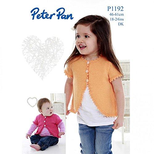 Peter Pan Girls Boleros Knitting Pattern 1192 DK