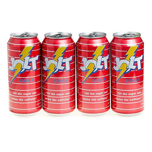 Jolt Cola, Carbonated Energy Drink, Original Recipe (Real Sugar), 16 Fl. Oz. 4 count
