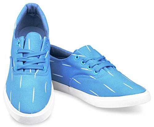 Hipster Hombres Slasher Skate Shoe Blue