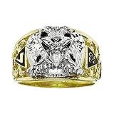 10k Yellow Gold Diamond Scottish Rite Masonic Ring