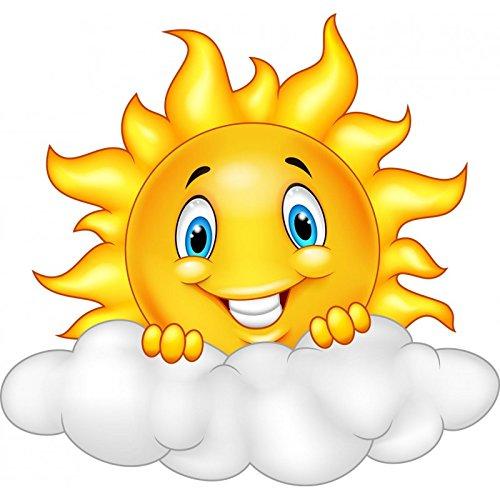 Adesivi per bambini-Sticker adesivo per bambini, motivo: sole, rif. 15214 nuvola, altezza 30 cm Stickers Enfant