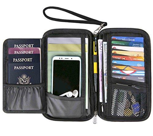 Passport Wallet Travel Wallet Passport Holder RFID Multiple Men Document Organizer (Wallet Passport Travel)