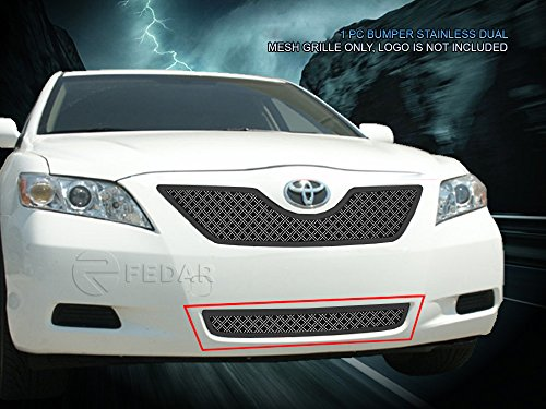 (Fedar Lower Bumper Dual Weave Mesh Grille for 2007-2009 Toyota Camry Selected Models)