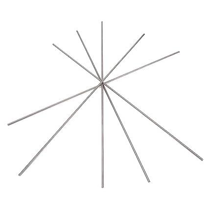 Kamas 5pcs 2250mm Titanium Sticks Round Ti Bar Grade 5 Metal