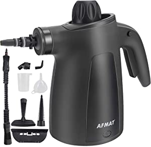 AFMAT Handheld Steam Cleaner, Multi-Function Multi-Purpose Handheld Steam Cleaner with 9 Pieces of Accessories, Suitable for Home, Sofa, Bathroom, Car seat, Office, Bedroom Cleaning-Black