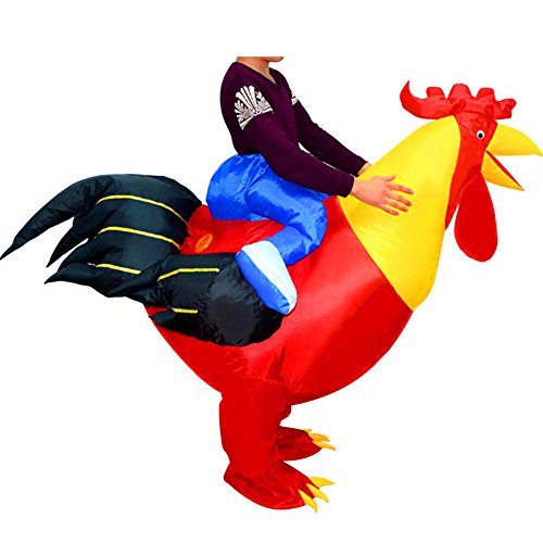 BlueSpace Inflatable Costumes Hallowenn Cosplay Costumes Gaint Rooster Suit for Audlts and (Inflatable Costume)