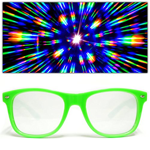 Transparent Purple Hard Plastic Lenses Rave GloFX Ultimate Diffraction Glasses