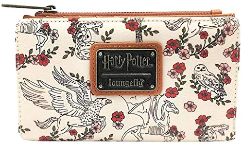 - Loungefly Harry Potter Floral Flap Wallet