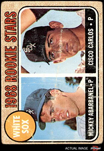 1968 Topps # 287 White Sox Rookies Mickey Abarbanel/Cisco Carlos Chicago White Sox (Baseball Card) Dean's Cards 1 - POOR White Sox