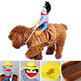 Pet Dog Clothes, Cute Dogs Cowboy Rider Coat Suit- Puppy Apparel Cosplay & Doggy Costumes Bobble Clothing (M)
