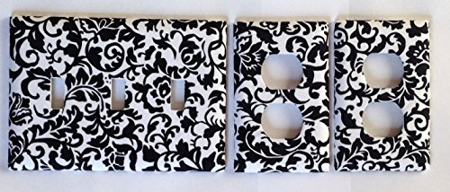 Damask Scroll 3 Light Switchplate /Oulet (Damask Switchplate)