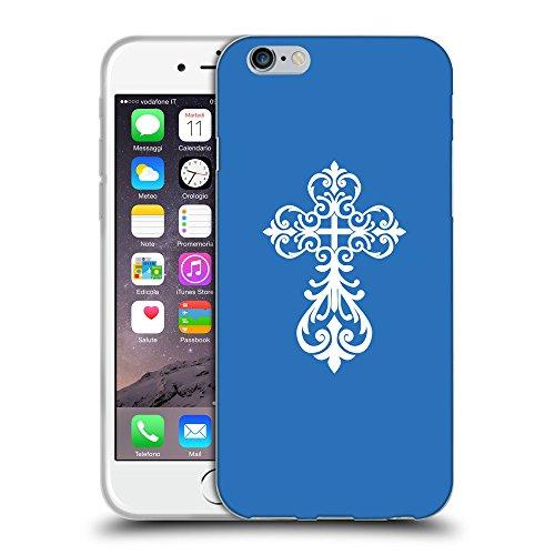 GoGoMobile Coque de Protection TPU Silicone Case pour // Q09240608 Croix chrétienne 34 Azur // Apple iPhone 7