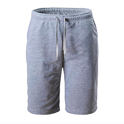 als Men's Casual Shorts Summer Fashion Sports Work Classic Fit Short Pants(M, Gray) ()
