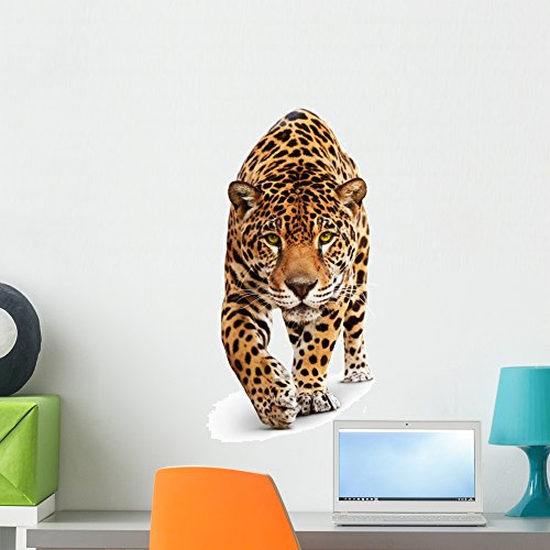 Wallmonkeys Front Jaguar Wall Decal Peel and Stick Graphic (24 in H x 22 in W) WM40480
