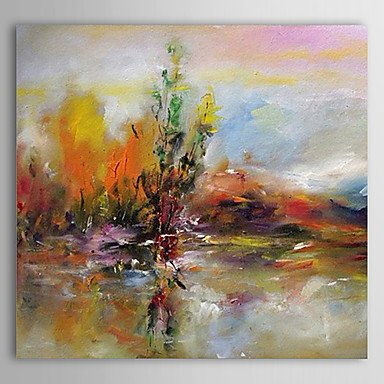 Sanbay Art 100% Hand Painted Oil Paintings on Canvas Hot Sale Abstract Paint Wood Framed Inside 1-piece Set Artwork for Living Room Kitchen and Home Wall Decoration
