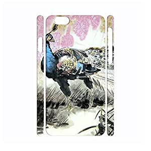 Beautiful Utility Vintage Peacock Anti Shock Hard Plastic Cover Skin for Iphone 6 Case - 4.7 Inch by icecream design