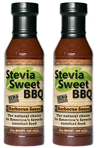 Stevia Sweet BBQ Sauce | Low Sugar (1g), Low Carb, Low Sodium, Gluten & Fat Free | Paleo & Keto Diet Friendly Barbecue Sauce | Zero Artificial Sweeteners (2 x 15 oz) (Bbq Homemade Sauce)