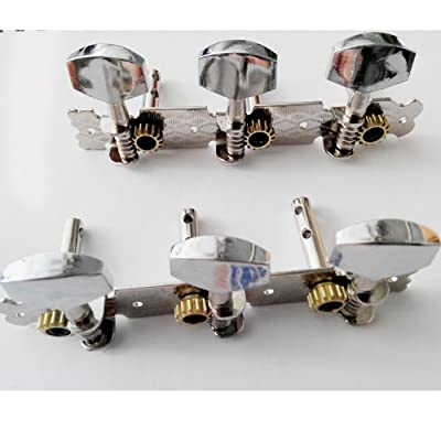 Kmise A1072 1 Set of 3L3R Classic Guitar Tuning Pegs Machine Heads Tuners Metal