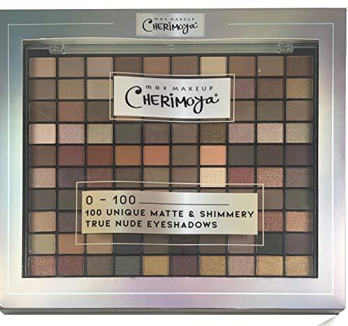 Cherimoya Max Makeup 100 Unique Matte & Shimmery True Nude Eyeshadow Pallet