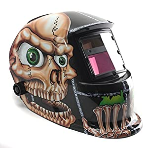AUDEW Solar Auto Darkening Welding Helmet Arc Tig Mig Mask Grinding Welder Mask Skull from AUDEW Co.,Ltd.