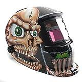 Image of AUDEW Solar Auto Darkening Welding Helmet Arc Tig Mig Mask Grinding Welder Mask Skull