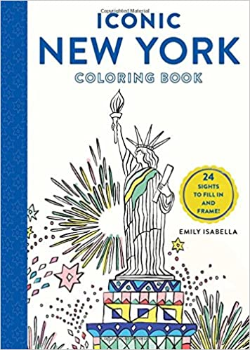 New Coloring Book : Iconic new york coloring book: 24 sights to fill in and frame
