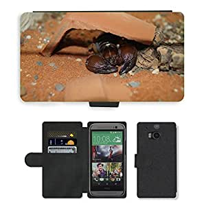 Grand Phone Cases PU LEATHER case coque housse smartphone Flip bag Cover protection // M00141361 Escorpio Insecto Animal Tóxico // HTC One M8