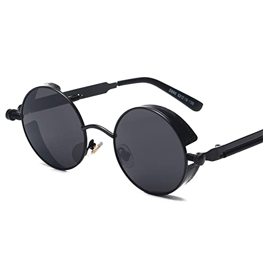 cf42991e8a5 John Lennon Steampunk Sunglasses Round Metal Retro Glasses Mirror Lens UV400