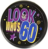Beistle BL024 Look Who's 60 Blinking Button, 2-Inch