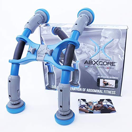 AbXcore - Abs Machine Exercise Equipment - Abdominal Workout Equipment for Core Ab Trainer Fitness Equipment - Home Gym Ab Exercise with Abs Machine Work Out (Blue)