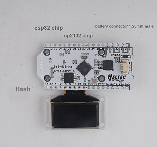 WIshioT Lora Module 868MHz-915MHz 0.96 OLED Display ESP32 ESP-32S WIFI Bluetooth Development Board Antenna Transceiver SX1276 IOT for Arduino Smart Home by WIshioT (Image #3)