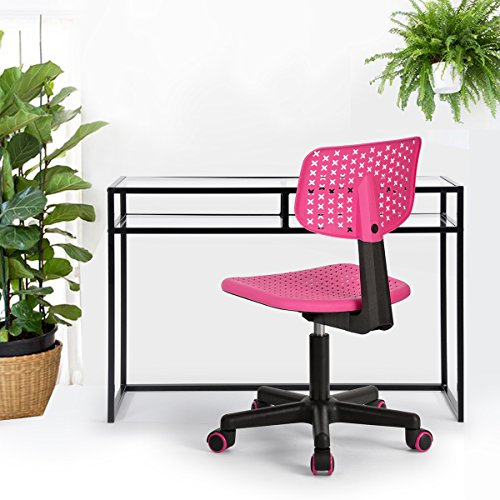 Homy Casa Office Task Desk Chair Computer Low-back Adjustabl