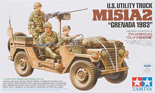 Tamiya America, Inc 1/35, US Utility TRK M151A2: Grenada 1983, TAM35332 (Tamiya Military Models)