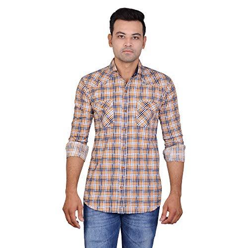 La Milano Solid Cotton Casual Shirt for Men
