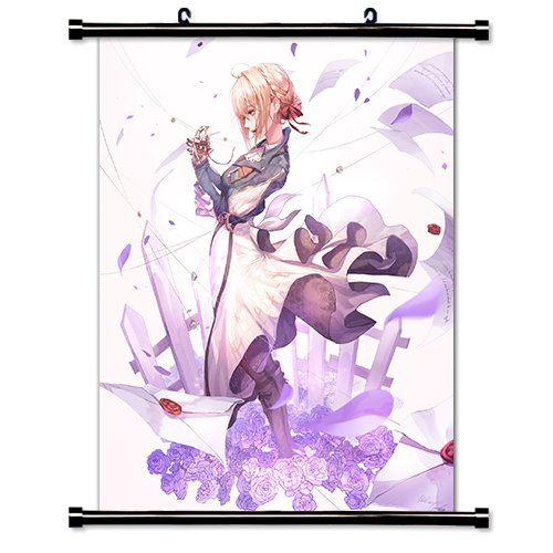 violet evergarden anime fabric wall