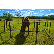 Portable Horse Corral Box Set: Standard- 8 Panels; 2 Rails