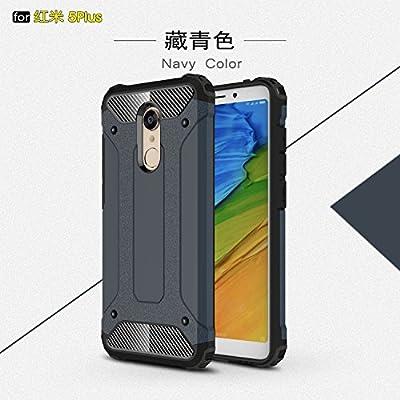 xinyunew Funda Xiaomi Redmi 5 Plus, 360 Grados Protección +Vidrio Templado Protector Pantalla Silicona Caso Cover Case Carcasas TPU + plastico Anti ...