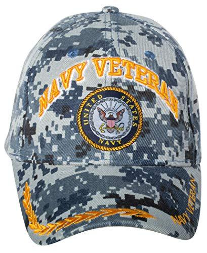 Officially Licensed United States Navy Veteran Digital Camo Embroidered Baseball - Digital Ball Camo Cap