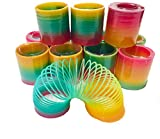 Aryellys Packs Coil Spring 12 Pack Rainbow Color Toy, Party Favor, Birthday Gift for Kids