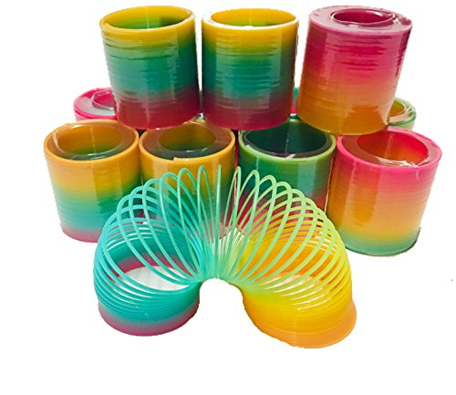 Aryellys Packs Coil Spring 12 Pack Rainbow Color Toy, Party