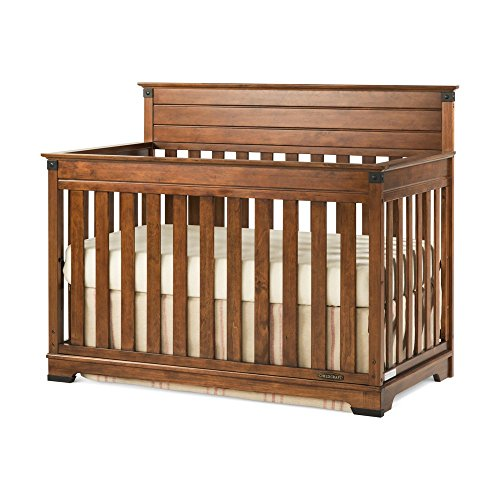 4 In 1 Convertible Crib In Coach Cherry Finish