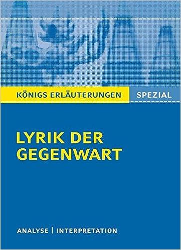 Lyrik Der Gegenwart 1960 Bis Heute Interpretationen Zu
